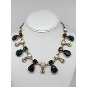 J. Crew Pearl Rhinestone Beaded Necklace